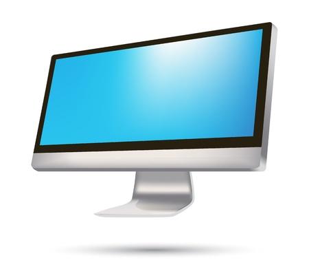 modern widescreen and flatscreen tv or television Stock Vector - 14892057