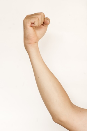 isolated fist, for conceptual usage. Fight, abuse or agressive concepts. Stock Photo - 15822855