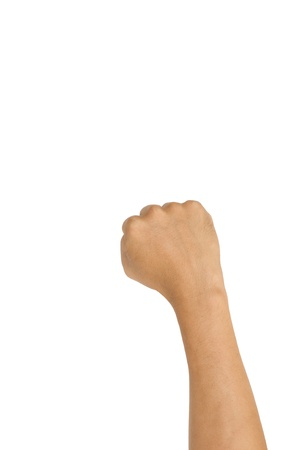 isolated fist, for conceptual usage. Fight, abuse or agressive concepts. Stock Photo - 15822727