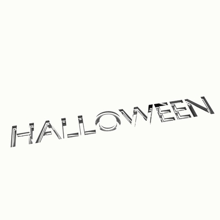 halloween greetings message with engraving effect, 3d render. Stock Photo - 16111768