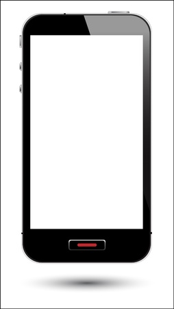 communicate  isolated: vector illustration of touch screen smartphone in eps10 format, to preserve the reflection effects.