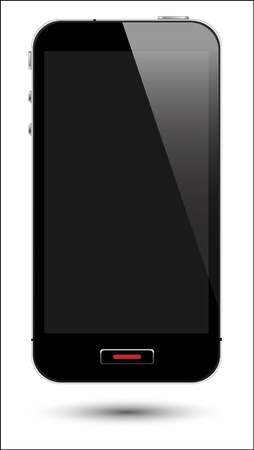 vector illustration of touch screen smartphone in eps10 format, to preserve the reflection effects. Stock Vector - 16111763