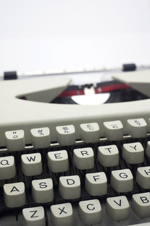 a close up of typewriter, focus on keys  photo