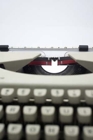 a close up of typewriter, focus on paper where message will be typed Stock Photo - 16926368