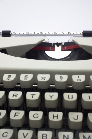 a close up of typewriter, deep field of depth  photo