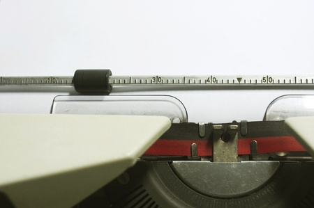 a close up of typewriter, focus on paper where message will be typed Stock Photo - 16926339