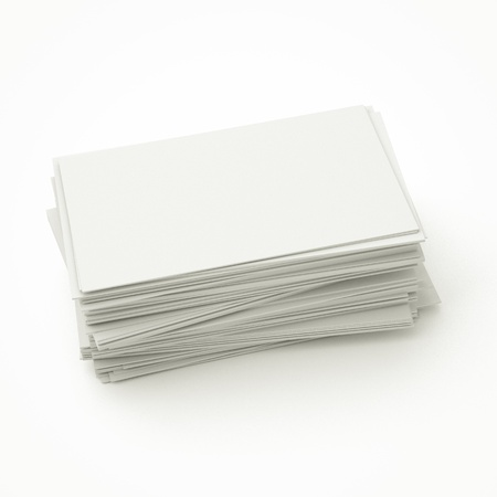 blank business cards in stack, to replace with own image. photo