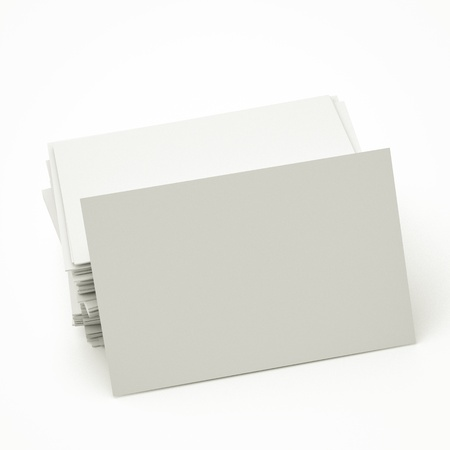 namecard: blank business cards in stack, to replace with own image. Stock Photo
