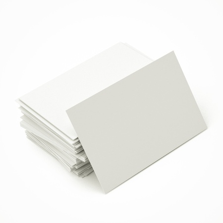 blank business cards in stack, to replace with own image. Stock Photo - 17213005