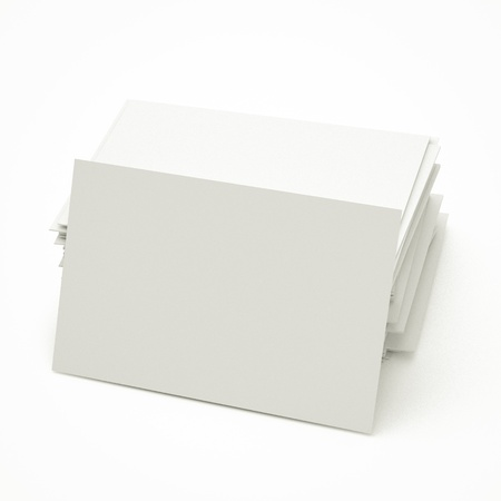 blank business cards in stack, to replace with own image. Stock Photo