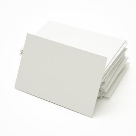 空白のビジネス カードに自分のイメージに置き換えるには、スタックで。