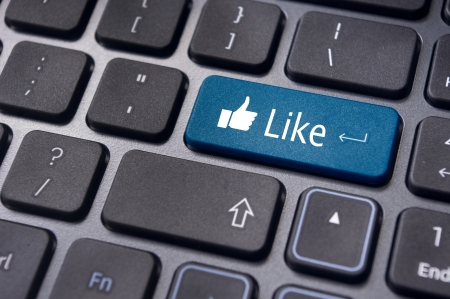 A like message on enter keyboard for social media concepts. Stock Photo - 17297525