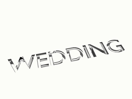 wedding message in engraving, for celebrations concepts or cards greetings. Stock Photo - 17420587