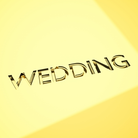 wedding message in engraving, for celebrations concepts or cards greetings. Stock Photo - 17420642