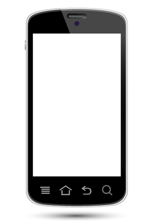 telephone: smartphone illustrations, to replace with own screen image. Stock Photo