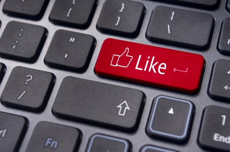 A like message on enter keyboard for social media concepts. Stock Photo - 17778203