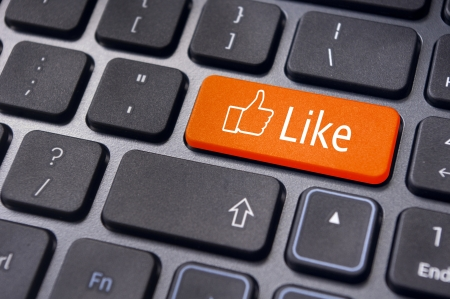 A like message on enter keyboard for social media concepts. Stock Photo - 17778208
