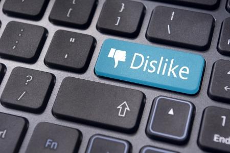 no gustar: Un mensaje de desagrado en el teclado para introducir conceptos contra los medios de comunicaci�n social.