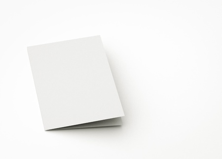 pamphlet: blank card, to replace message or image on cover.