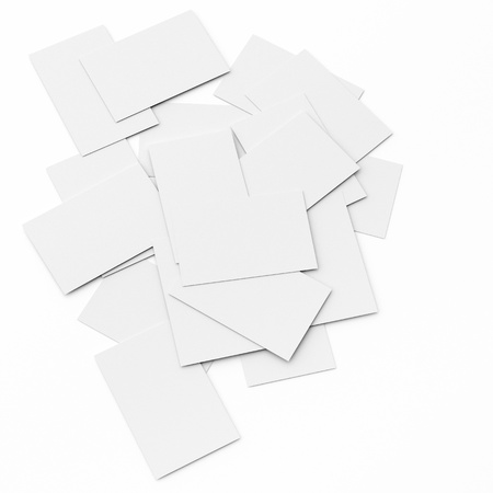 business card conceptual background, a stack of cards with only the top card is not covered. Stock Photo - 17778258