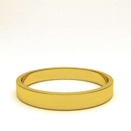 wedding band: isolated gold ring, for conceptual usage, 3d rendering