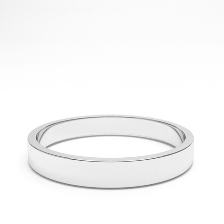 platinum wedding ring: isolated gold ring, for conceptual usage, 3d rendering