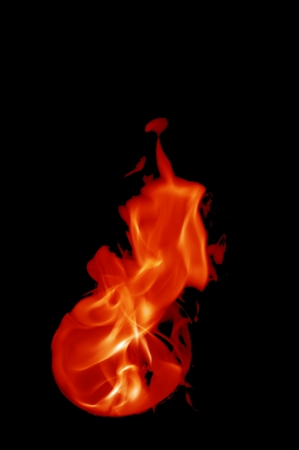 dynamic heat black: fire with a black background, abstract background.