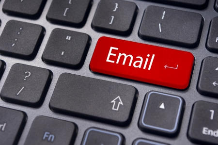 email us: messages on keyboard enter key, for email concepts.