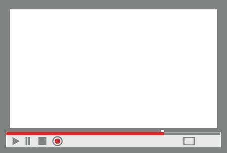 컨트롤 메뉴와 비디오 플레이어 인터페이스는 이미지로 대체합니다.