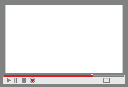 video player: video player interface with control menu, replace with images.