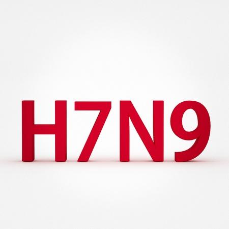 H7N9 flu virus concepts, new flu virus outbreak in china