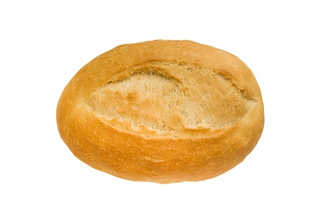 jpg: isolated baguette with clipping path in jpg. Stock Photo