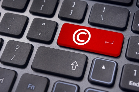 copyrights: a copyright symbol on keyboard to illustrate the concepts.