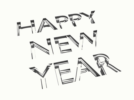 happy new year message in engraving, for celebrations concepts or cards greetings. Stock Photo - 21263327