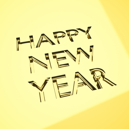happy new year message in engraving, for celebrations concepts or cards greetings. Stock Photo - 21263328