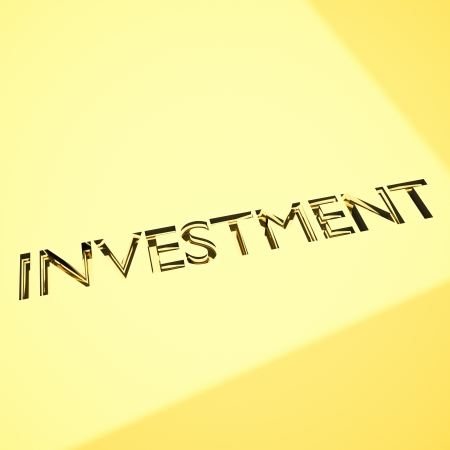 wealth management: engraved investment words on metal surface, for related concepts.