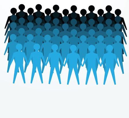 labor market: illustrations of crowd for public or unity concepts.