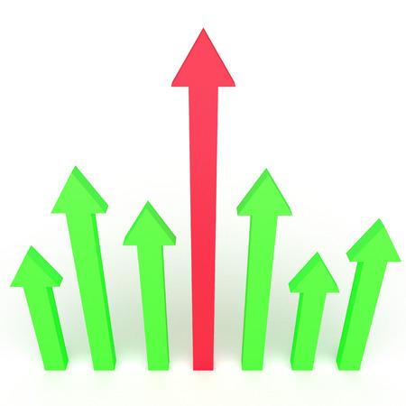 3d pijlen infographics ontwerp voor zakelijke groei concepten. Stockfoto - 36008905