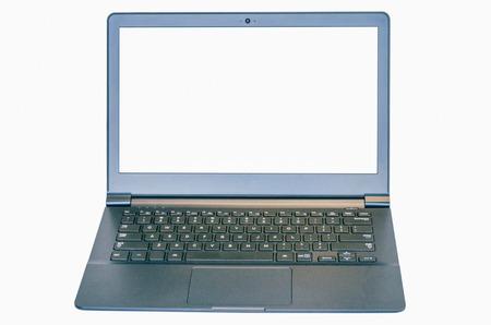 Geïsoleerde dunne ultrabook laptop met twee clipping paths, een voor de laptop een voor het scherm. Stockfoto - 36564438