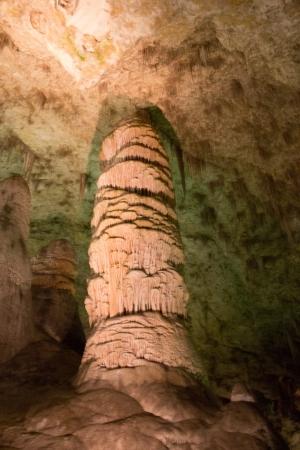 carlsbad: Column in Carlsbad Caverns National Park Stock Photo