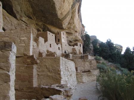 mesa: Mesa Verde Cliff Dwellings Stock Photo