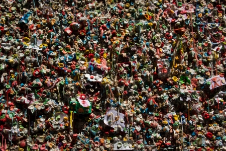 Gum Wall at Pike Place Market Seattle Фото со стока