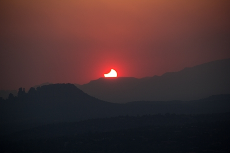 annular eclipse over sedona