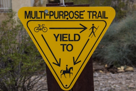 multi use trail sign