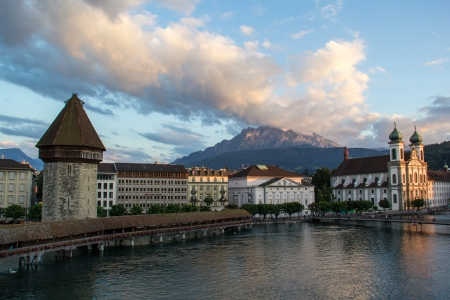 View of Lucerne Switzerland