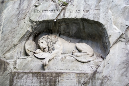Lion of Lucerne Фото со стока