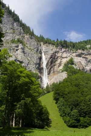 Waterfall in the Swiss Alps