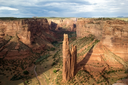 Spider Woman rock at Canyon de Chelly national monument arizona