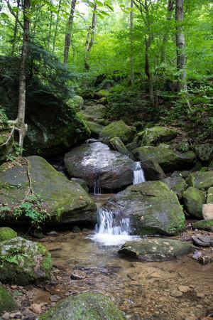 allegheny: Bent Run waterfall near Warren, Pennsylvania Stock Photo