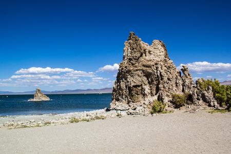 모노 호수 자연 지역의 석회암 형성 스톡 콘텐츠